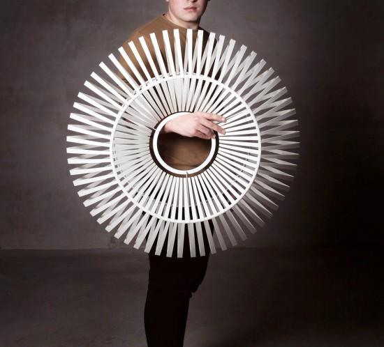 arturo alvarez V handmade pendant lamp