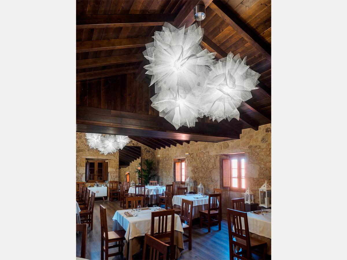 arturo alvarez project Restaurante Porta do Sol de Lamela Galicia Fluo Pendant Lamp 05