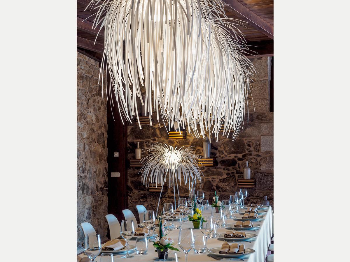 arturo alvarez project Restaurante Porta do Sol de Lamela Galicia Tina Pendant Lamp 02