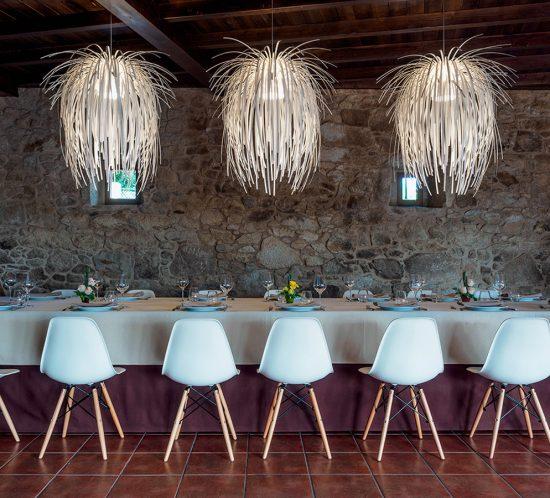 arturo alvarez project Restaurante Porta do Sol de Lamela Galicia Tina Pendant Lamp 03