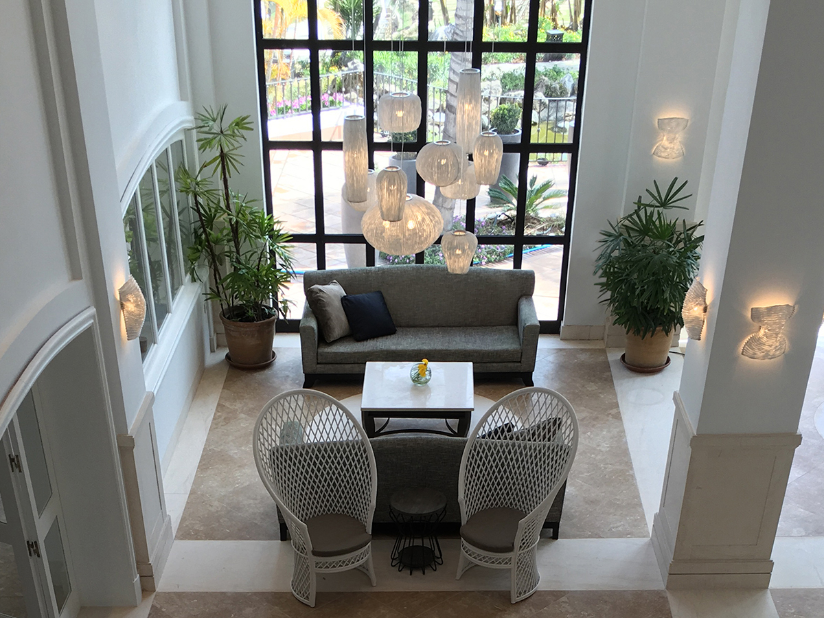 arturo alvarez project Hotel La Quinta Marbella Spain coral pendant lamp